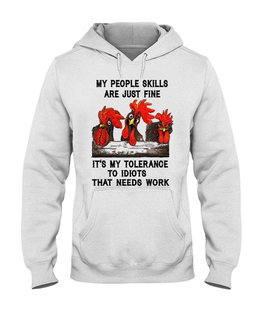 my people skills are just fine Hooded Sweatshirt