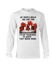 my people skills are just fine Long Sleeve Tee thumbnail