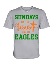 Sundays are for Jesus and the Eagles V-Neck T-Shirt thumbnail