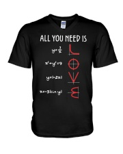 All You Need Is Love Math V-Neck T-Shirt thumbnail