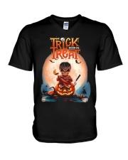 Trick Or Treat V-Neck T-Shirt thumbnail