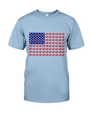 AMERICAN FLAG - DACHSHUND  Premium Fit Mens Tee front