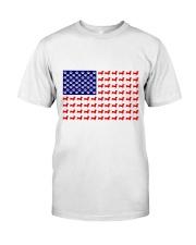 AMERICAN FLAG - DACHSHUND  Premium Fit Mens Tee tile
