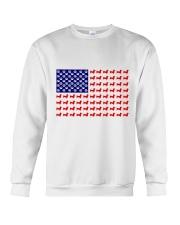 AMERICAN FLAG - DACHSHUND  Crewneck Sweatshirt thumbnail