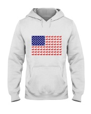 AMERICAN FLAG - DACHSHUND  Hooded Sweatshirt thumbnail