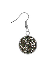 Camo cats - JY Circle Earrings thumbnail