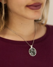 Camo cats - JY Metallic Circle Necklace aos-necklace-circle-metallic-lifestyle-1