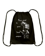 Your mind is your best weapon Drawstring Bag thumbnail