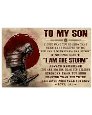 TO MY SON - SAMURAI POSTER 17x11 Poster front
