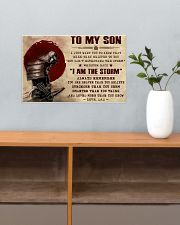 TO MY SON - SAMURAI POSTER 17x11 Poster poster-landscape-17x11-lifestyle-24