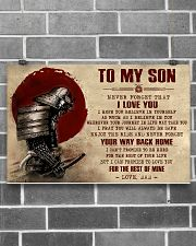TO MY SON - SAMURAI POSTER 17x11 Poster poster-landscape-17x11-lifestyle-18