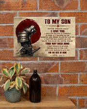TO MY SON - SAMURAI POSTER 17x11 Poster poster-landscape-17x11-lifestyle-23