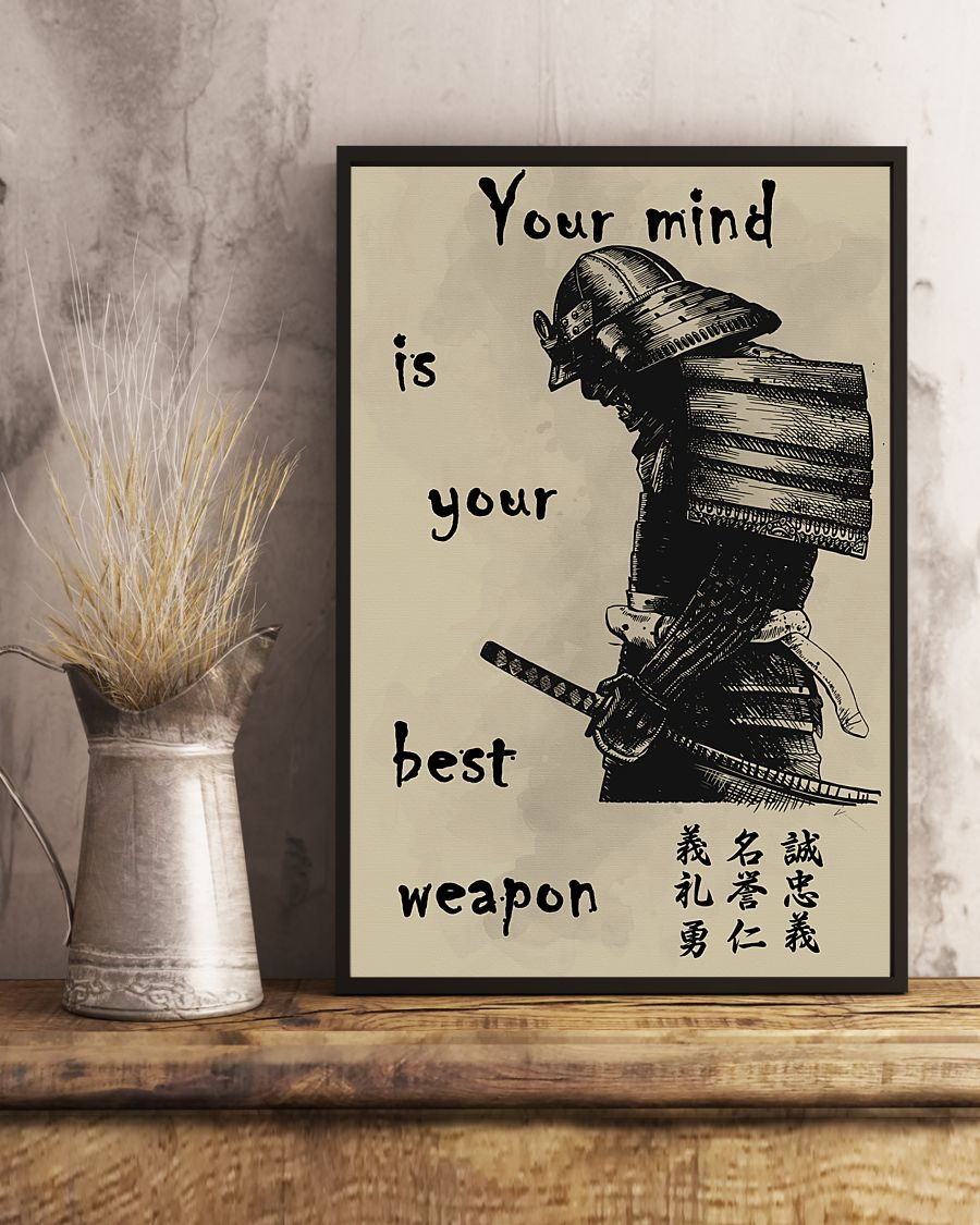 Details about  /Your mind is your best weapon Vertical Poster Wall Decor Poster no frame