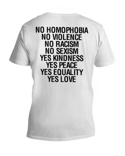 NO HOMOPHOBIA NO VIOLENCE LOVE IS LOVE LGBT Shirt