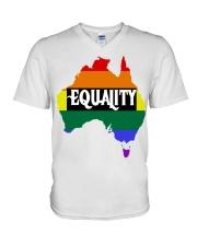 LGBT Pride 2020 Funny Australia Gay Rainbow Gifts V-Neck T-Shirt thumbnail