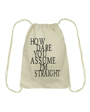 How Dare You Assume I'm Straight Tank  Drawstring Bag tile