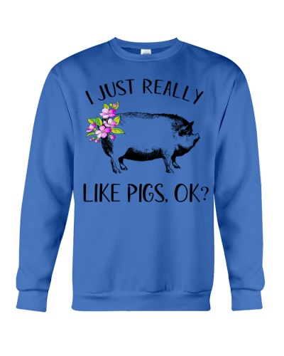Pig Lover Gifts I Just Really Like Pigs Ok T-shirt