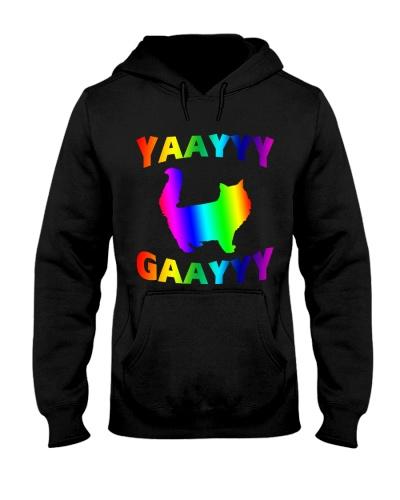 Rainbow Cat T-shirt - Funny LGBT Purride Shirt Gif