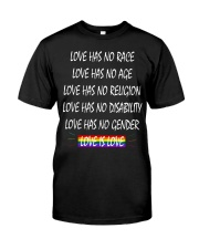 Love Has No Race Love Has No Age LGBT Pride TShirt Classic T-Shirt thumbnail
