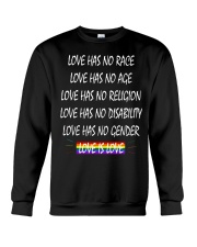 Love Has No Race Love Has No Age LGBT Pride TShirt Crewneck Sweatshirt thumbnail