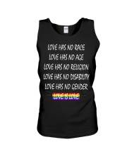 Love Has No Race Love Has No Age LGBT Pride TShirt Unisex Tank front