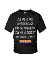 Love Has No Race Love Has No Age LGBT Pride TShirt Youth T-Shirt thumbnail