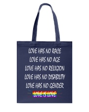 Love Has No Race Love Has No Age LGBT Pride TShirt Tote Bag thumbnail