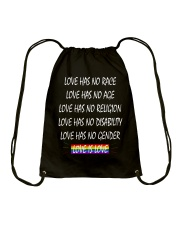 Love Has No Race Love Has No Age LGBT Pride TShirt Drawstring Bag thumbnail
