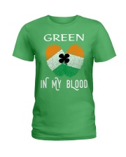 St Patrick's Day T-Shirts Green In My Blood Shirt Ladies T-Shirt thumbnail
