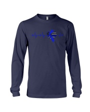 Heartbeat Blue Long Sleeve Tee thumbnail