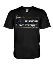 Proud Police Son V-Neck T-Shirt thumbnail