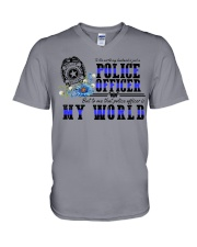 world police V-Neck T-Shirt thumbnail