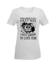 Police Wife Ladies T-Shirt women-premium-crewneck-shirt-front