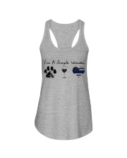 Paw Wine Police Ladies Flowy Tank tile