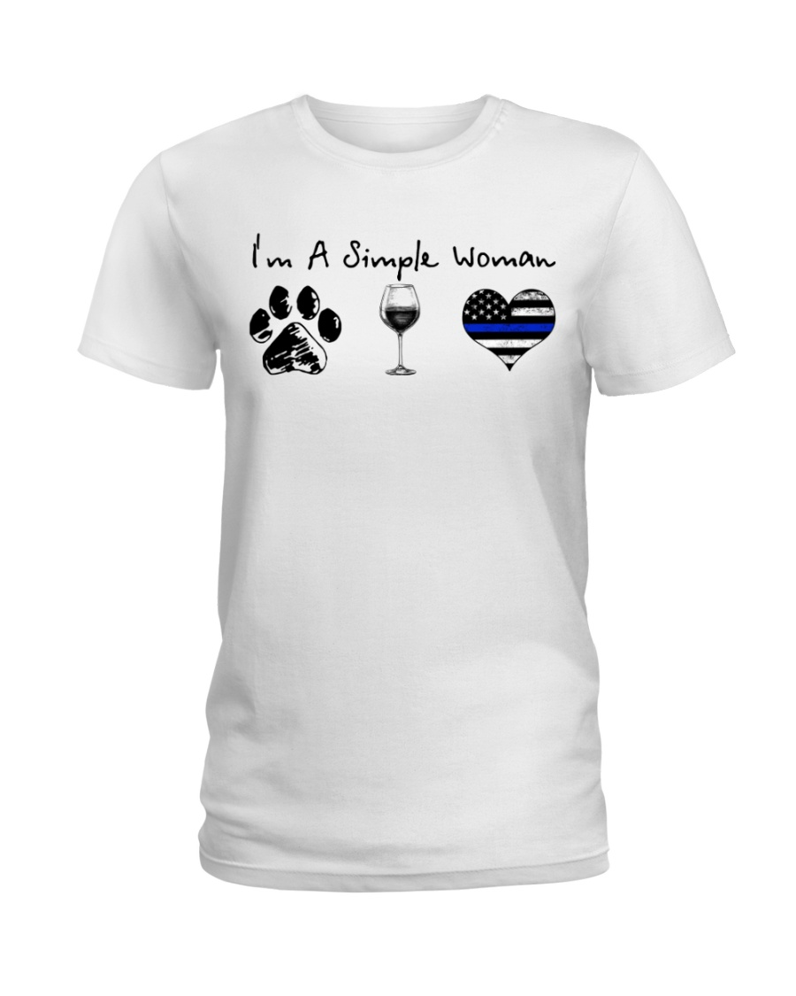 Paw Wine Police Ladies T-Shirt
