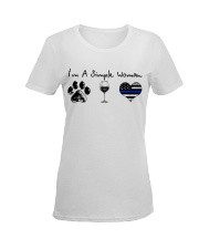 Paw Wine Police Ladies T-Shirt women-premium-crewneck-shirt-front