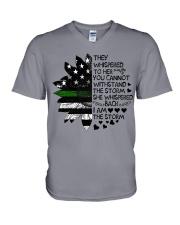 Storm Thin Green Line V-Neck T-Shirt thumbnail