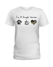 Simple Woman Dispatcher Ladies T-Shirt front