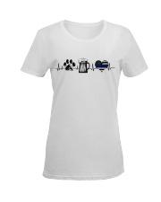Paw - Beer - Police Ladies T-Shirt women-premium-crewneck-shirt-front