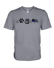 Paw - Beer - Police V-Neck T-Shirt thumbnail