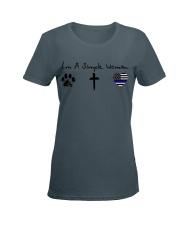 Paw Cross Police Ladies T-Shirt women-premium-crewneck-shirt-front