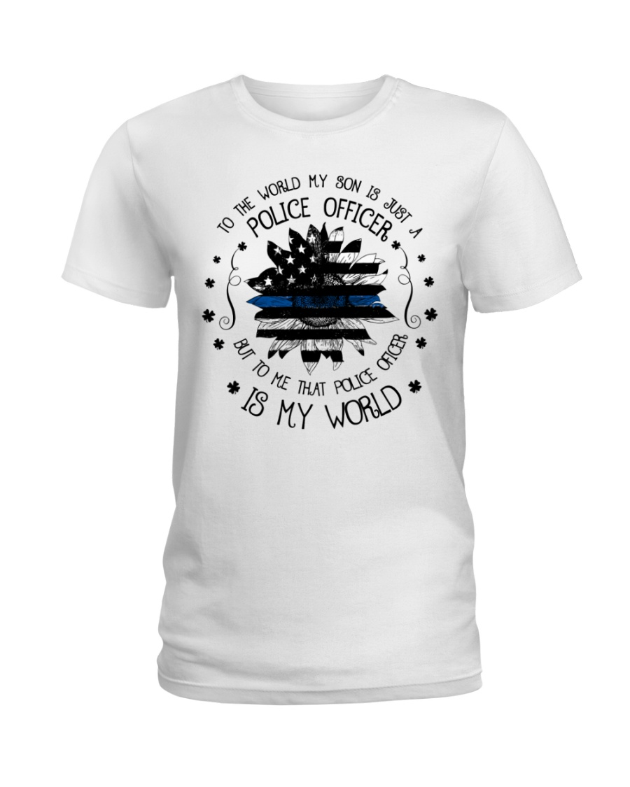 My Police Officer Son Ladies T-Shirt
