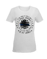 My Police Officer Son Ladies T-Shirt women-premium-crewneck-shirt-front