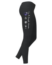Legging Simple Woman blue-coffee-paw-wine Ladies Leggings right