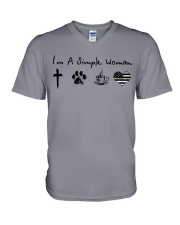 Storm camo V-Neck T-Shirt thumbnail