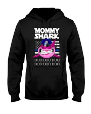 Pink Mommy Shark Hooded Sweatshirt thumbnail