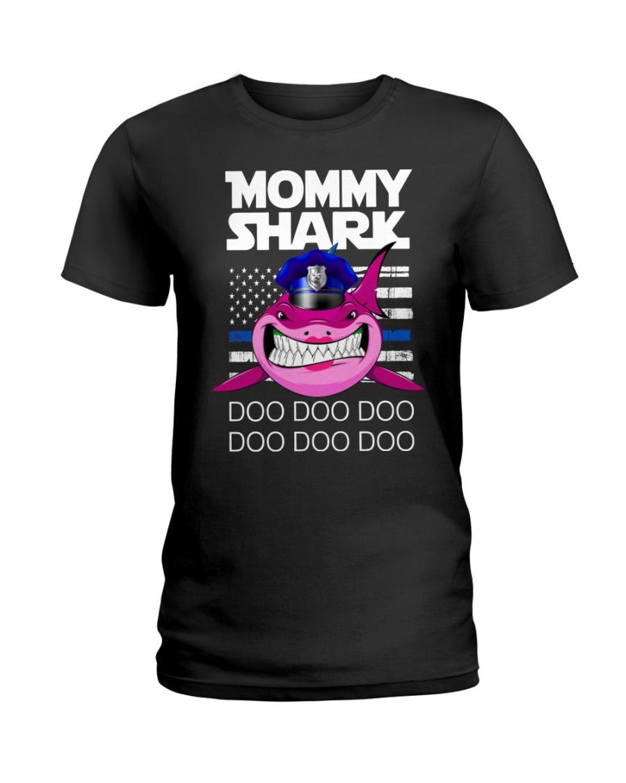 Pink Mommy Shark Ladies T-Shirt