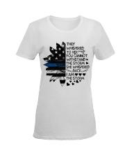 Storm Thin Blue Line Ladies T-Shirt women-premium-crewneck-shirt-front