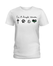 Simple Woman Military  Ladies T-Shirt front