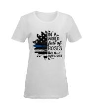 rose blue Ladies T-Shirt women-premium-crewneck-shirt-front